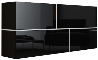 Комод Cama Meble Goya, черный, 170x40x80 см