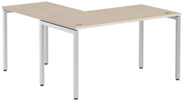 Skyland Corner Table XTEN-S XSCT 1415 Oak Tiara/Aluminum
