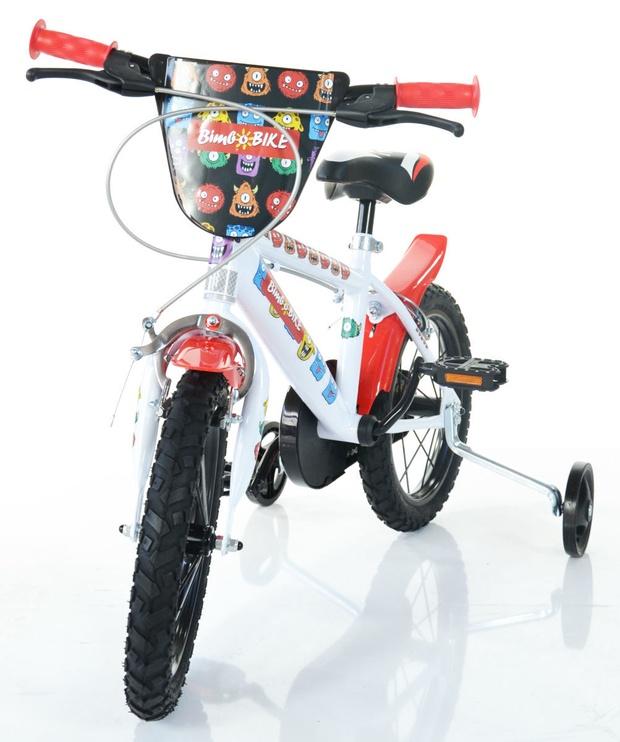 "Vaikiškas dviratis Bimbo Bike 77325 14"" White Red"