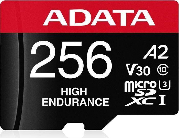 ADATA High Endurance microSDXC 256GB UHS-I U3 Class 10
