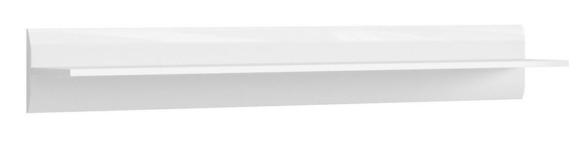 Black Red White Azteca Wall Shelf 150cm White
