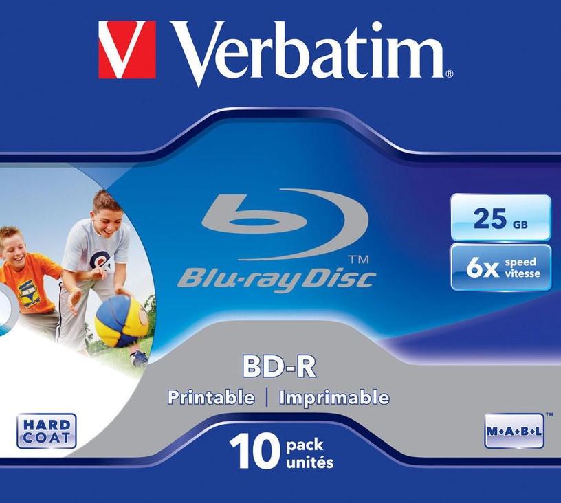 Verbatim BD-R Printable 6X 25GB Jewel Box