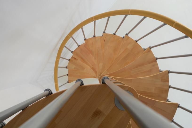 Mediniai laiptai Wave plus, bukas, 12 pakopų
