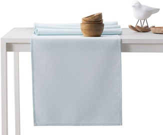 DecoKing Pure HMD Tablecloth SilverBlue 40x120