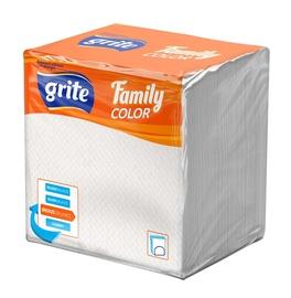Popierinės servetėlės Grite Family Color White, 24 x 24 cm, 75 vnt