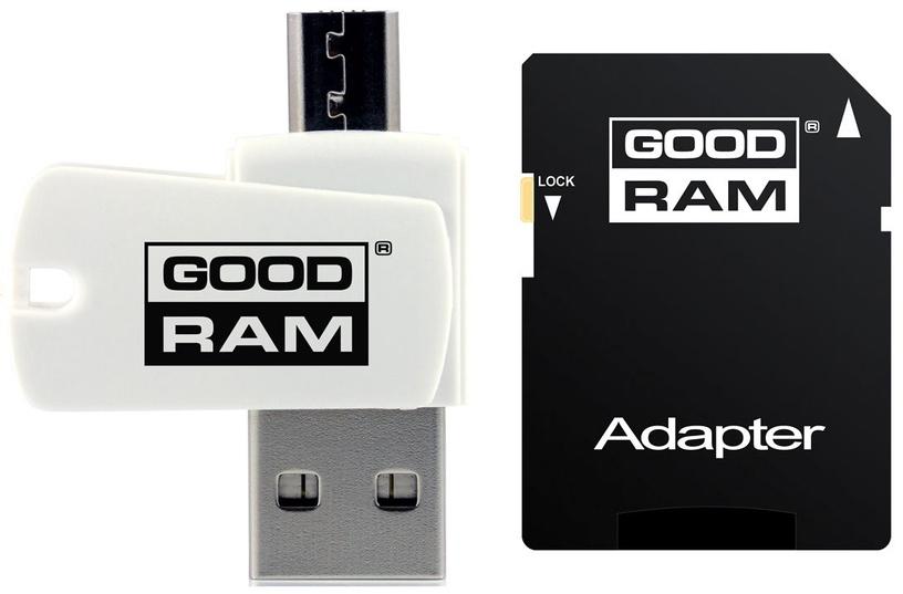 Goodram M1A4 All in One microSDXC 64GB Class 10 UHS-I C U1 + Adapter microSD-SD + OTG Card Reader