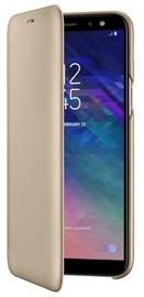 Samsung Galaxy A6 Wallet Case Gold