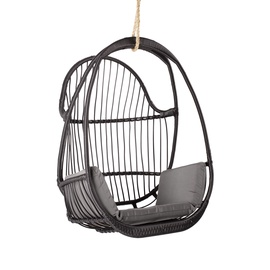 Home4you Jussi Swing Chair Black/Grey