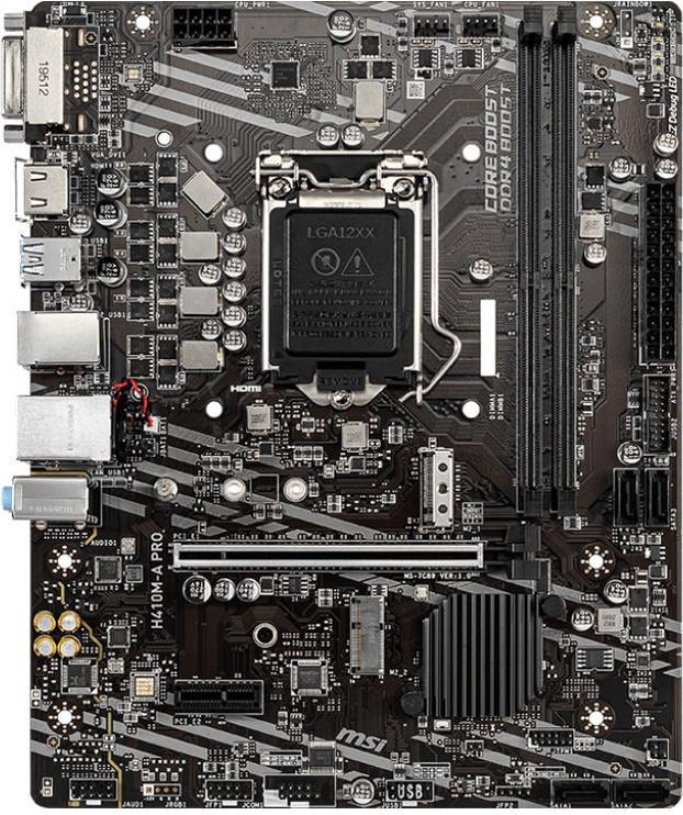 Mātesplate MSI H410M-A Pro