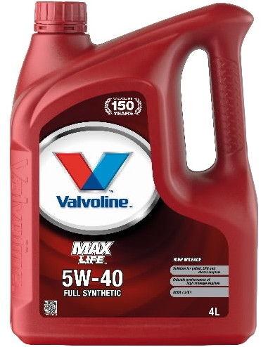 Valvoline MaxLife 5w40 Engine Oil 4L