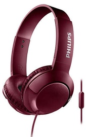 Philips Bass+ SHL3075 Headphones Red