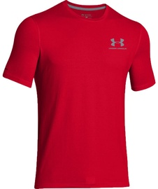 Under Armour T-Shirt Left Chest Lockup 257616-600 Red S