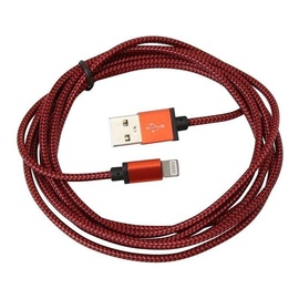 Platinet Braided Cable USB To Lightning 2m Red
