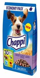 Sausas šunų ėdalas Chappi, su 3 mėsos rūšimis, 9 kg