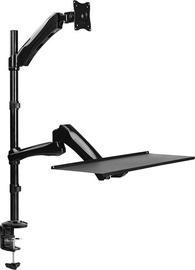 Televizoriaus laikiklis LogiLink Sit-Stand Workstation Monitor Desk Mount BP0040