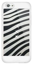 White Diamonds Safari Zebra Case With Swarovski Crystals For Apple iPhone 6/6s Black/White