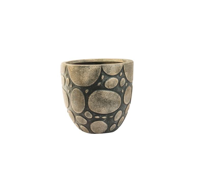 Вазон SN Indoor Plant Pot 24x23cm Beige Black