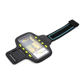 """Platinet Poslb Armband Pouch Case With Led Effects For SmartPhone 5"""" Max Black"""