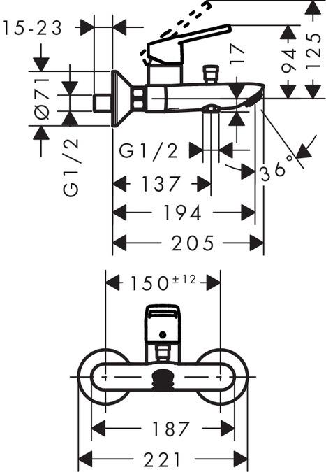 Vannas maisītājs Hansgrohe Logis Loop 71244000