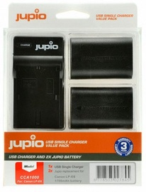 Jupio Kit 2x LP-E6 1700mAh+USB Single Charger