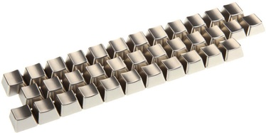 King Mod Service Metal Keycaps Letters UK Silver