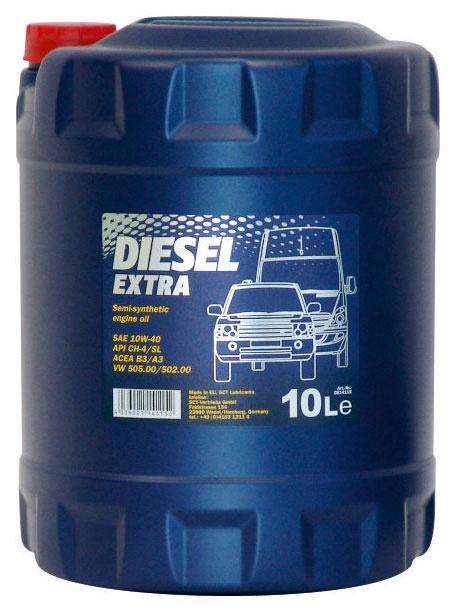 Automobilio variklio tepalas Mannol Diesel Extra, 10W-40, 10 l