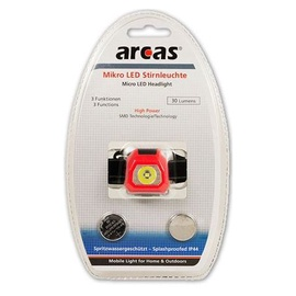 Pealamp Arcas LED 30lm+2xCR2032 patareid