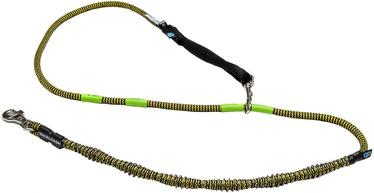 Поводок Dogcessories Idealeash 2.0 Trekking Lite, черный/желтый, 2 м
