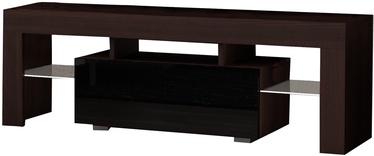 TV-laud Pro Meble Milano 160 With Light Walnut/Black, 1600x350x450 mm