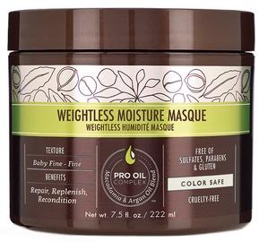 Kaukė plaukams Macadamia Weightless Moisture, 222 ml