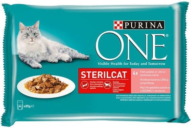 Purina ONE Sterilcat Salmon And Carrot 4x85g