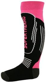 Mico Kids Superthermo Ski Sock Black/Pink 30-32