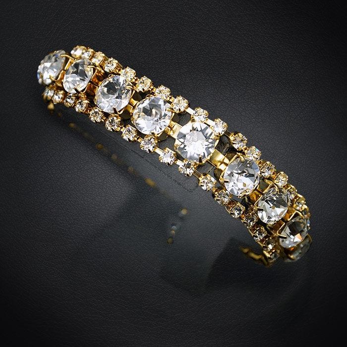 Diamond Sky Bracelet Crystal Shackle With Swarovski Crystals