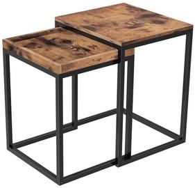 Kavos staliukas Songmics Brown/Black, 450x400x550 mm