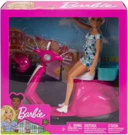 Mattel Barbie Doll & Scooter GBK85