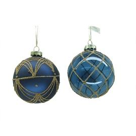 Ziemassvētku eglītes rotaļlieta EBX944090/EBX944062 Blue, 4 gab.