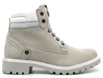 Wrangler Creek Fur Leather Winter Boots Ice Light Gray 38