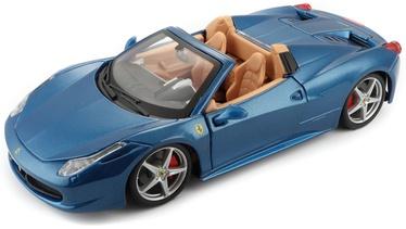 Bburago Ferrari Car RP 458 Spider 1:24 18-26017 Blue