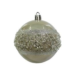 Jõulupuu ehe Christmas Touch SYQC-011978 Silver/Champagne, 80 mm, 3 tk