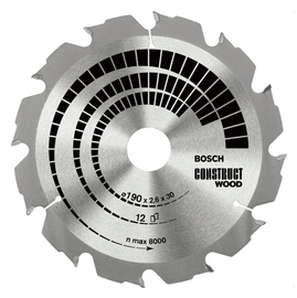 Disks ripzāģa 160x16mm construct wood