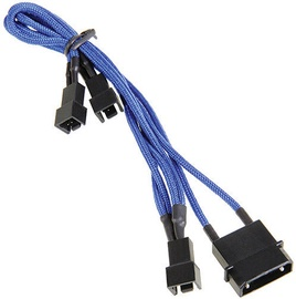 BitFenix 4-Pin to 3 x 3-Pin Cable Blue