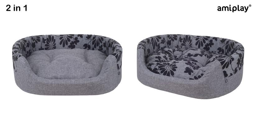 Кровать для животных Amiplay Euphoria, черный/серый, 550x640 мм