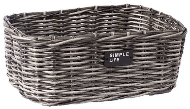 Home4you Basket Ruby-3 35x25x14cm Grey