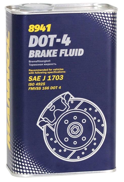 Тормозная жидкость Mannol Brake Fluid DOT 4 1l