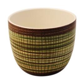 Puķu pods, keramikas 13,5x16cm, bambuss