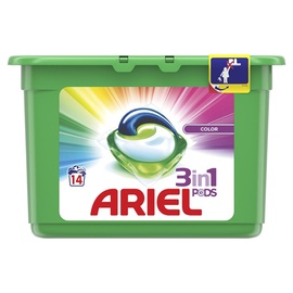 Капсулы для стирки Ariel Color 3 in 1, 14 шт.