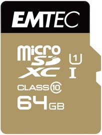 Emtec 64GB Gold+ Micro SDXC Class10