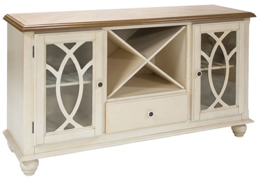 Home4you Chest Of Drawers Lily 152x46x84cm White/Oak