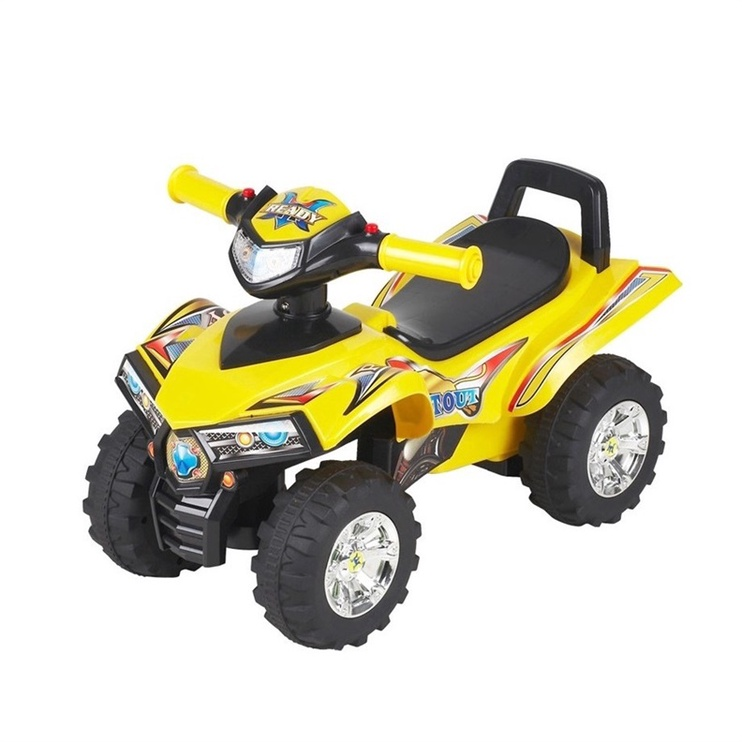 Paspirtukas – keturratis motociklas 551, geltonas