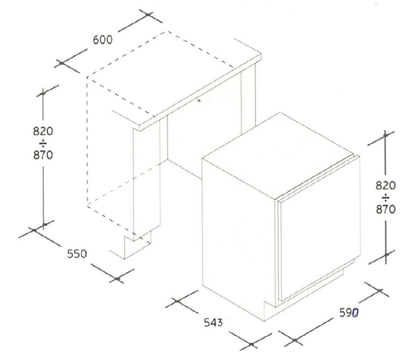 Įmontuojamas šaldytuvas Candy CRU 160E